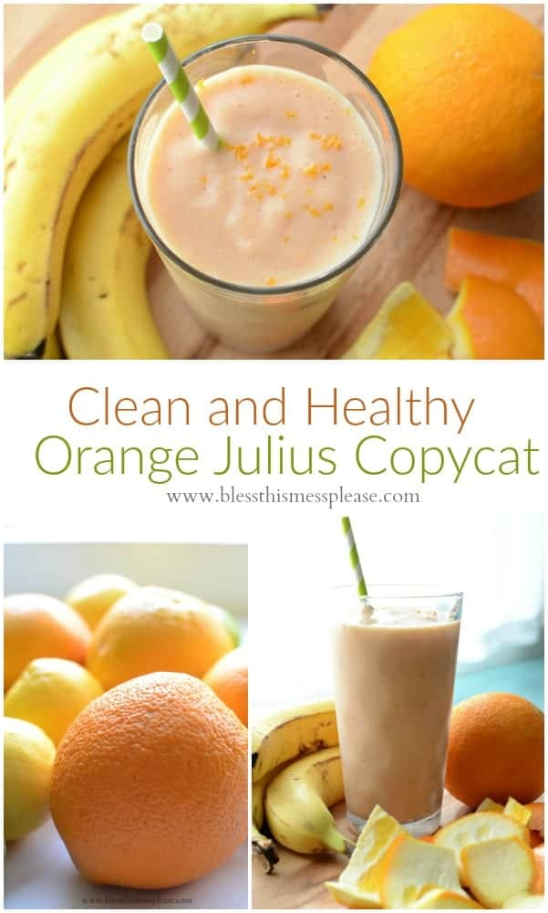 Healthy Orange Julius Copycat Recipe (dairy free) that tastes just like the real thing!