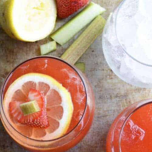 Strawberry Rhubarb Lemonade - summer sipping just got tastier