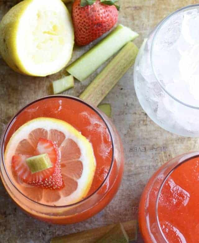 Strawberry Rhubarb Lemonade – summer sipping just got tastier