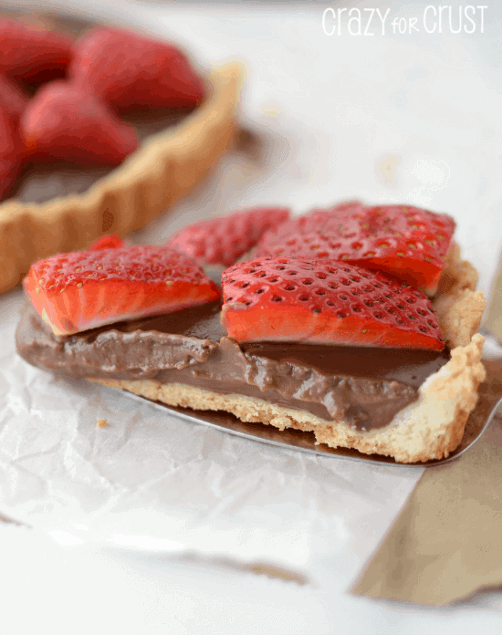 Nutella Strawberry Tart