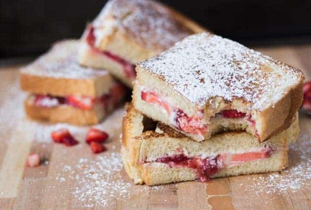 Strawberry Mascarpone Grilled Cheese Sandwich