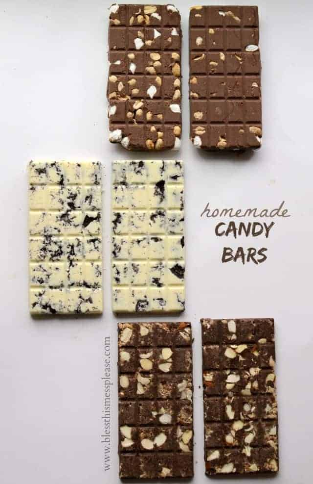 homemade candy bars with nuts