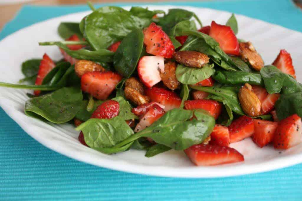 strawberry salad with tangy dressing
