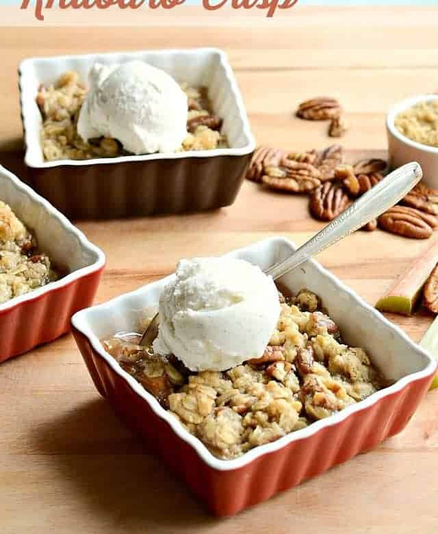 Rhubarb Crisp with no other fruit