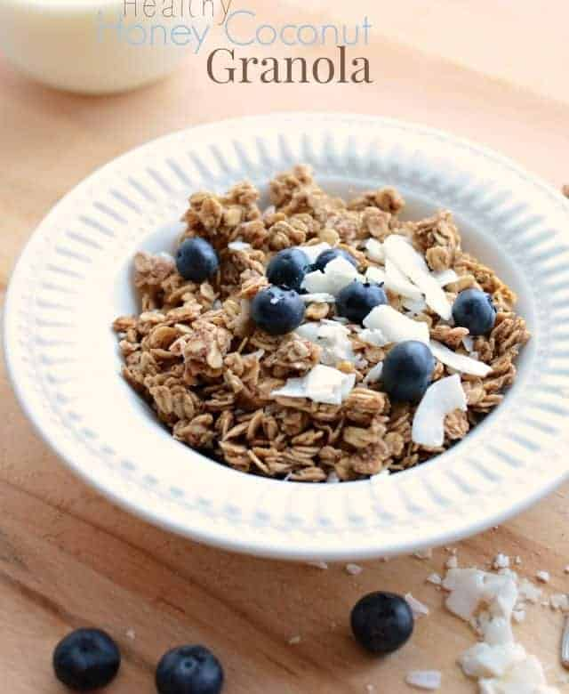 Healthy Honey Coconut Granola Recipe