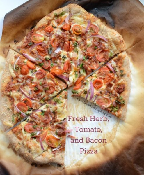 Image of Herb Tomato Bacon Pizza