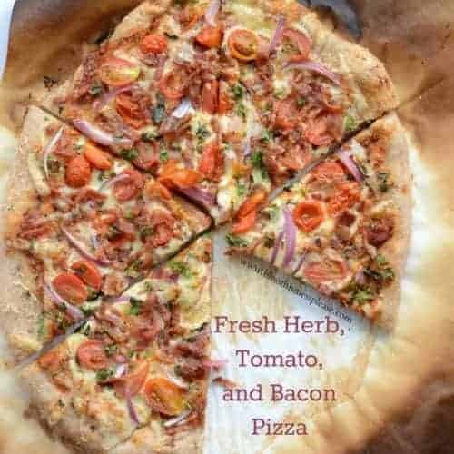 Image of herbed tomato bacon pizza