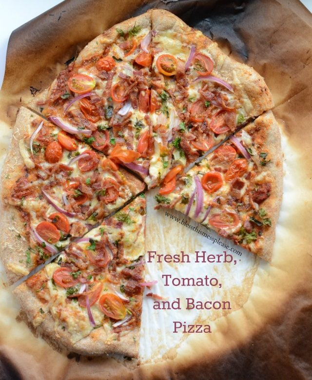 Herbed Tomato Bacon Pizza