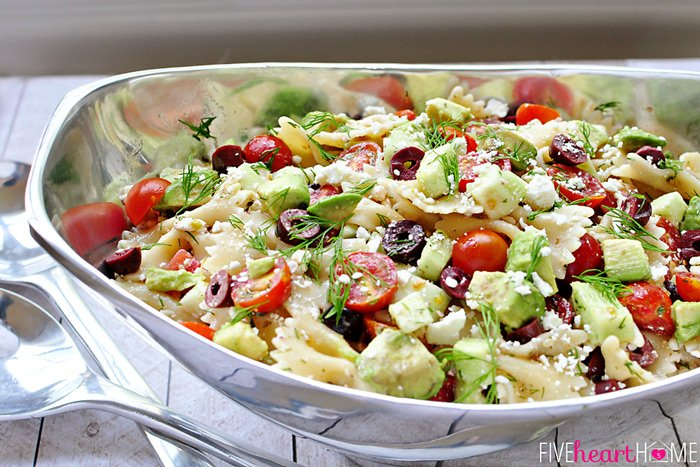 Tomato-Cucumber-Pasta-Salad-with-Avocados-Black-Olives-Feta-and-Dill-by-Five-Heart-Home_700pxHoriz