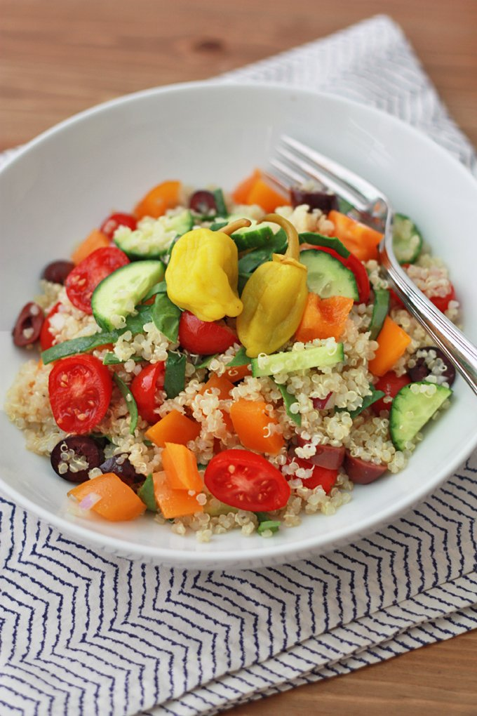 Think Greek Quinoa Salad - Bless This Mess