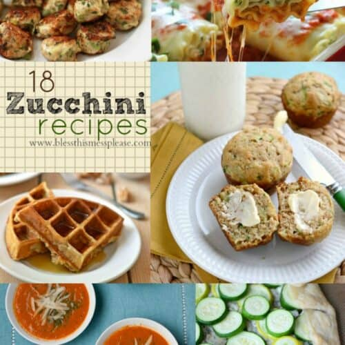 18 Zucchini Recipes - because there really is such a thing as too many zucchini!