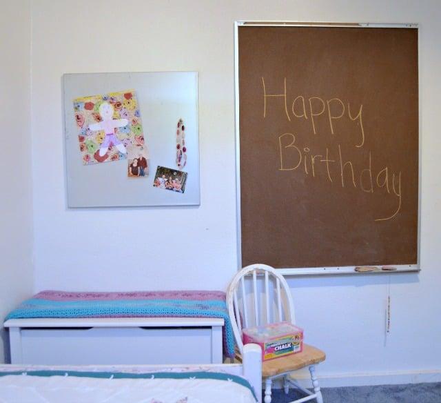 birthday chalk board