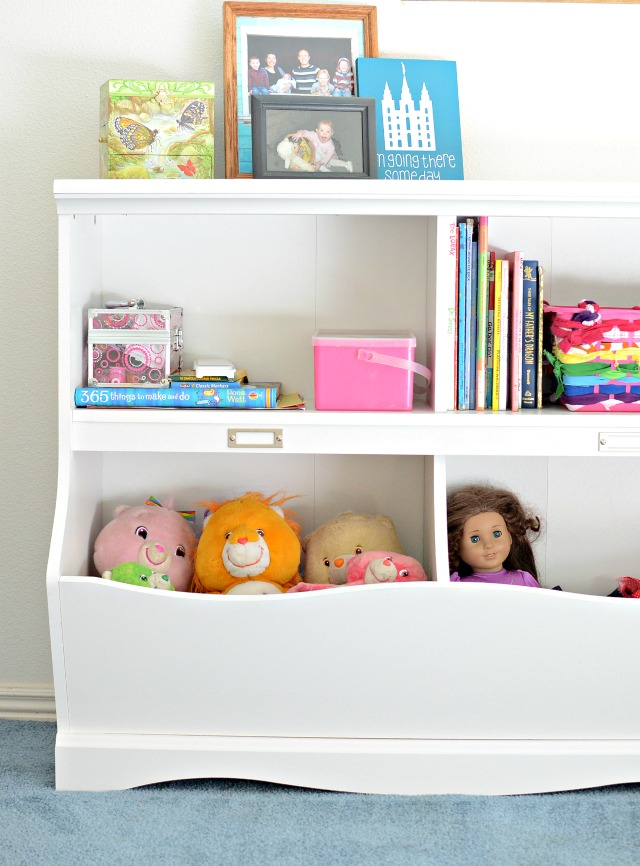 Sauder's Dresser with cute build in storage on the bottom! Perfect a little girls room.