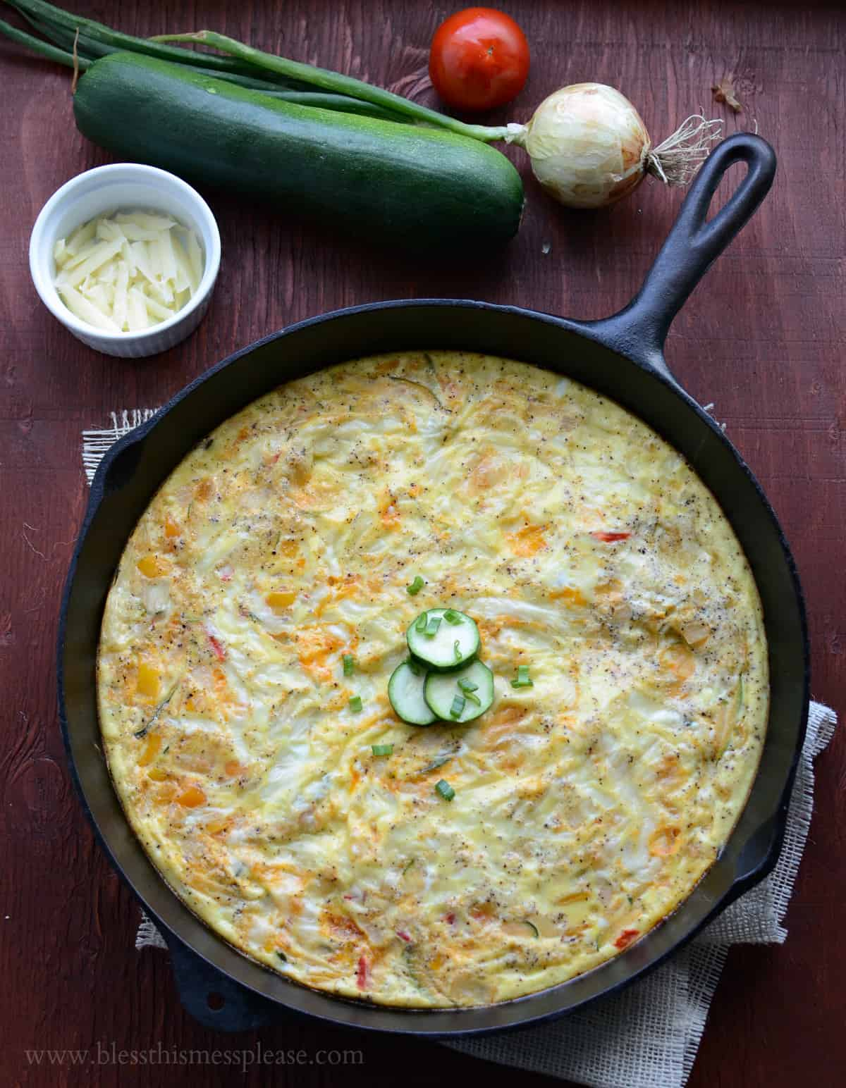 One Skillet Meals - Farmhouse Egg Bake