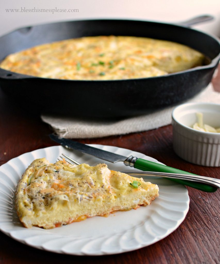 Image of a Slice of Farmhouse Egg Bake