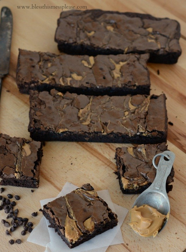 Rich Peanut Butter Brownies