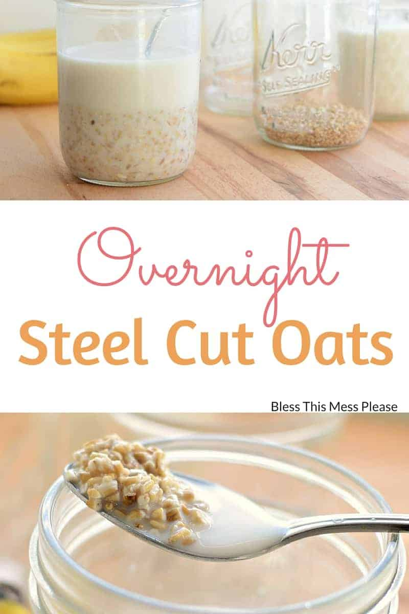 Steel Cut Oats Cold Cereal Method