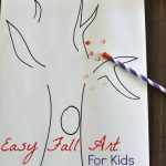 Fall Straw Art for Kids