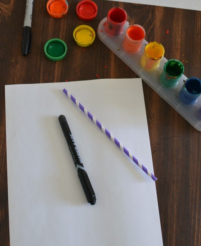 Fun and Simple Fall Straw Art for Kids