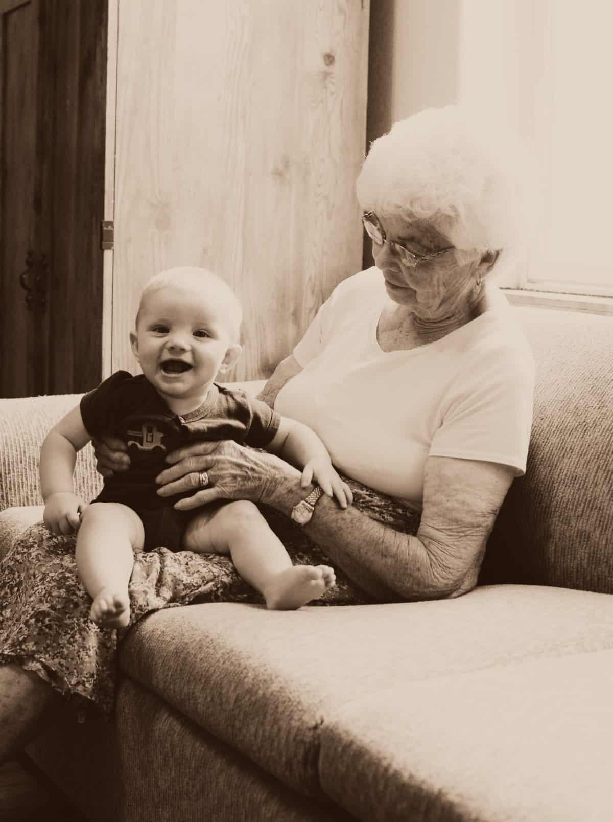 grandma with kiddos