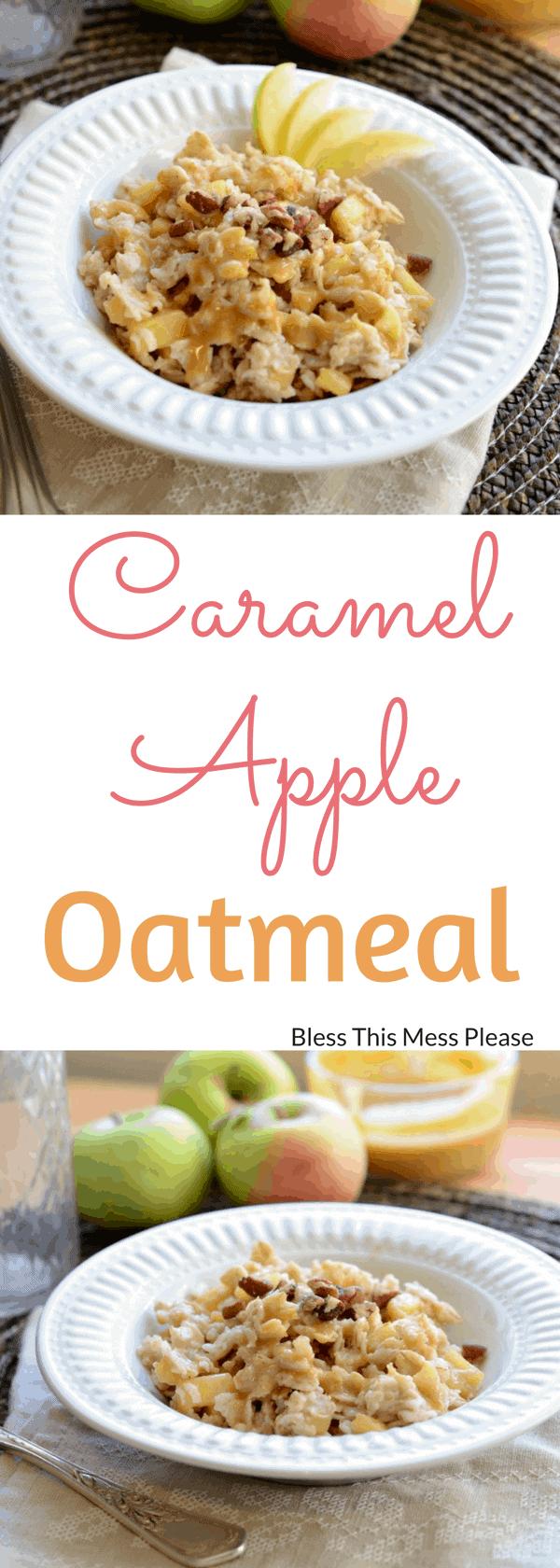 Caramel Apple Oatmeal