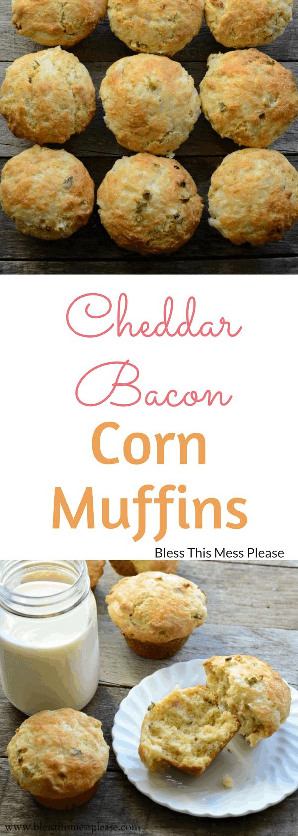 Cheddar Bacon Corn Muffins