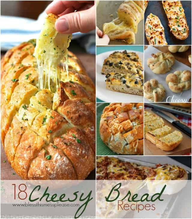 There are few things that I love more than cheese and bread, but one of those things would be cheesy bread.