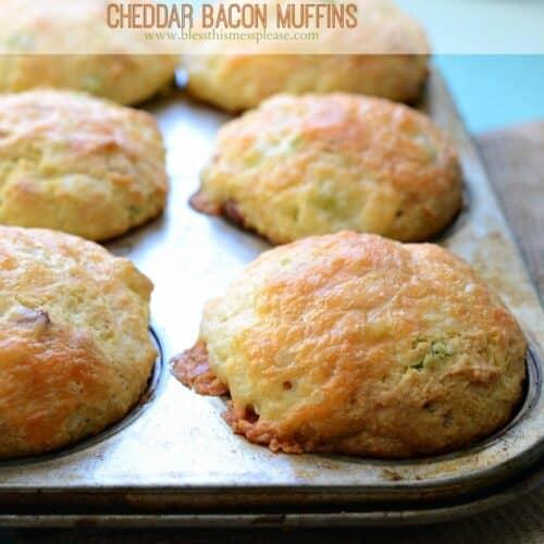Cheddar Bacon Cornbread Muffins