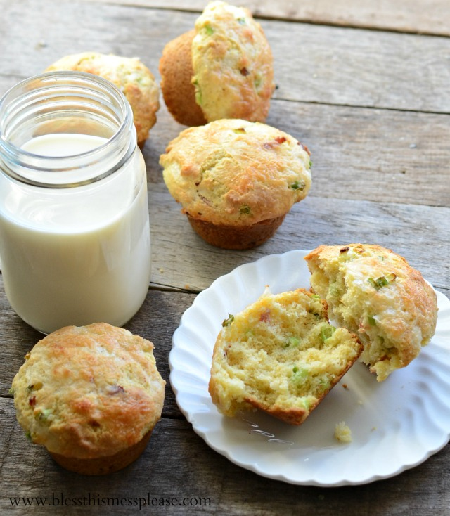 Cheddar Bacon Corn Muffins - Bless This Mess