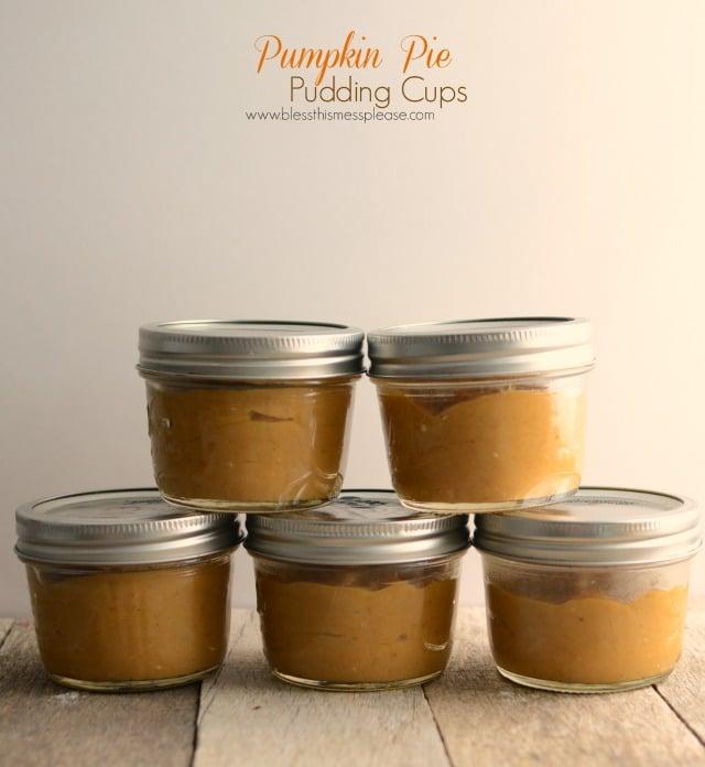 Homemade Pumpkin Pie Pudding Cups