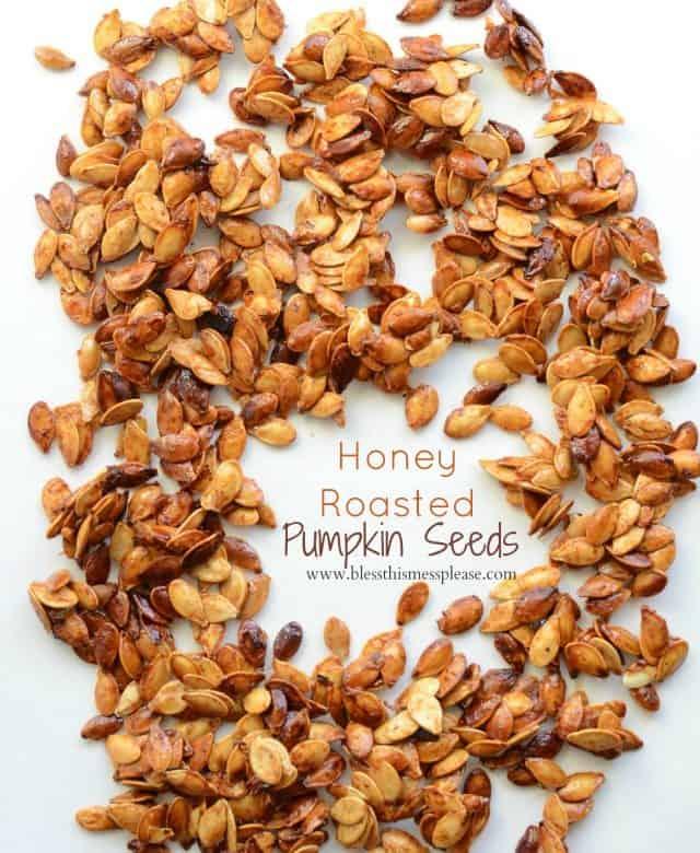 Honey Roasted Pumpkin Seeds with Cinnamon