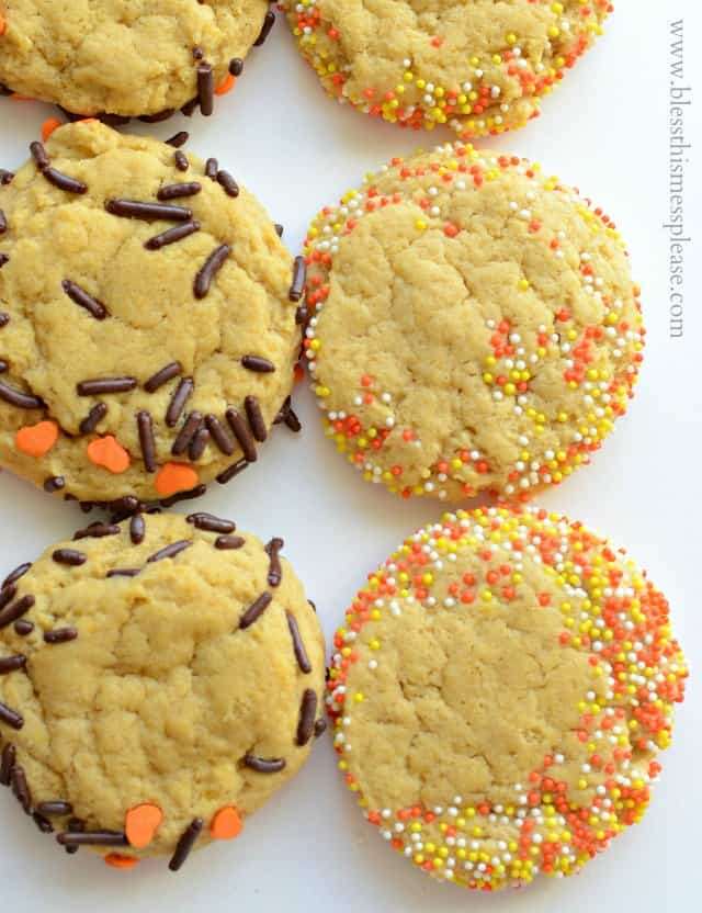 soft pumpkin cookiess
