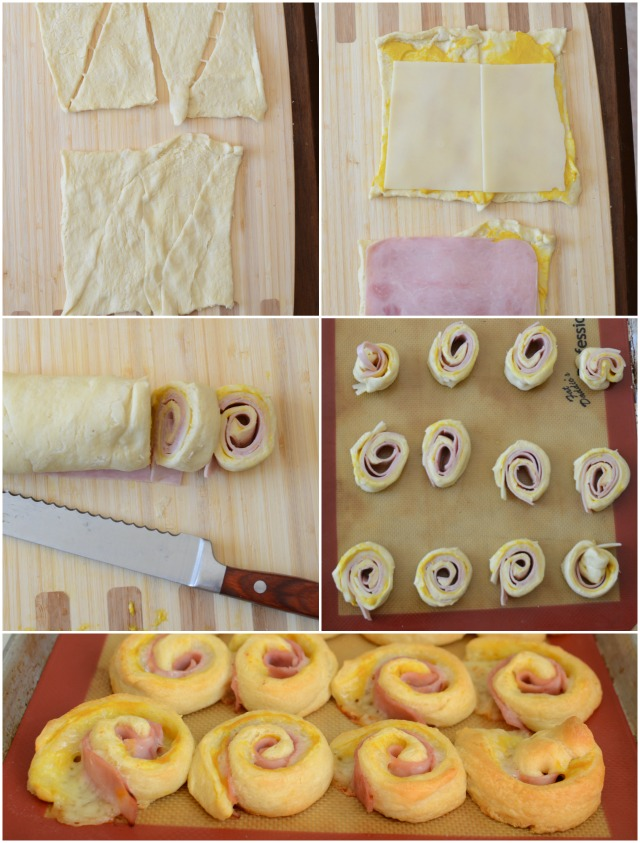 Quick and Easy Hot Ham and Cheese Pinwheels