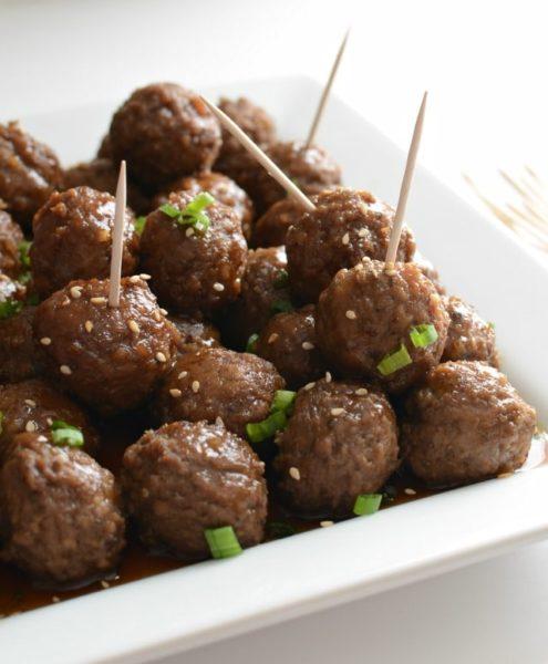 Image of honey teriyaki meatballs
