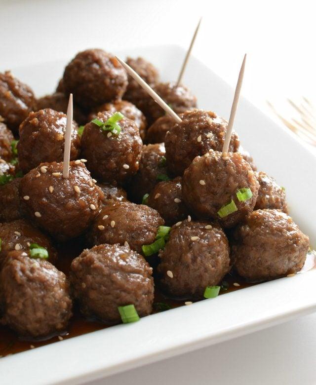 Slow Cooker Honey Teriyaki Meatballs