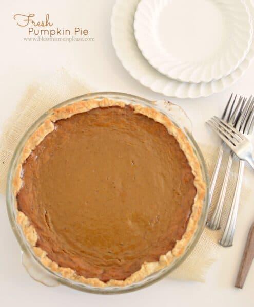 Image of a pumpkin pie