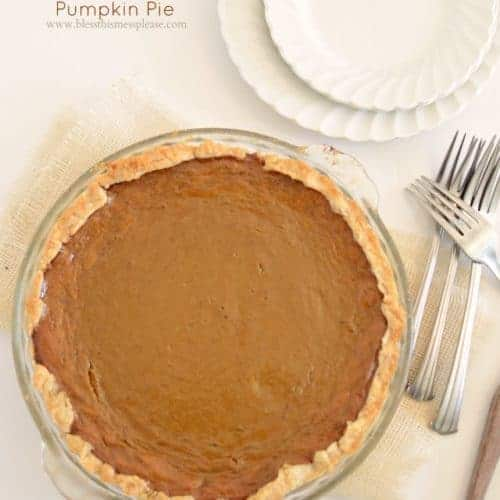 Image of a pumpkin pie