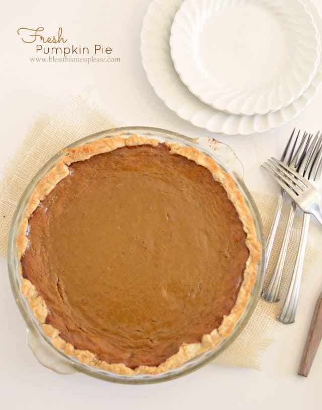 Pumpkin Pie From Fresh Pumpkin Bless This Mess