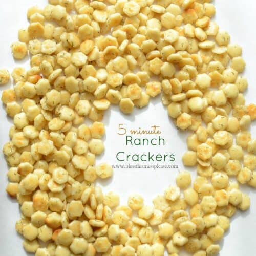 5 Minute Ranch Crackers Recipe