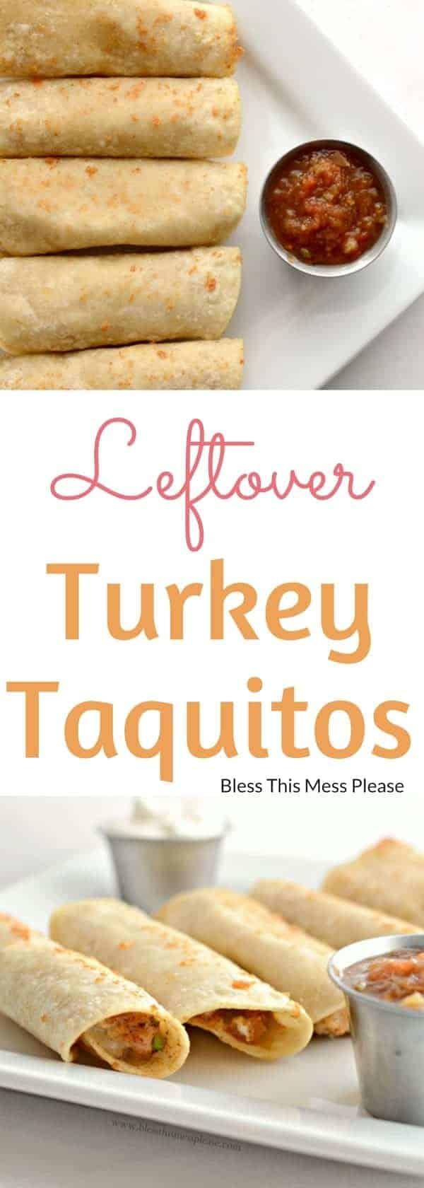 Leftover Turkey Taquitos