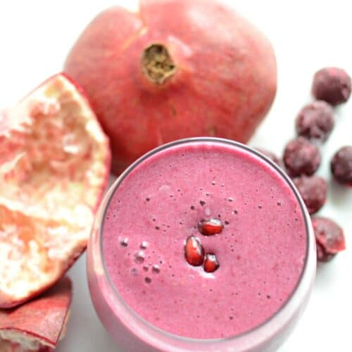 Sour Cherry and Pomegranate Detox Smoothie