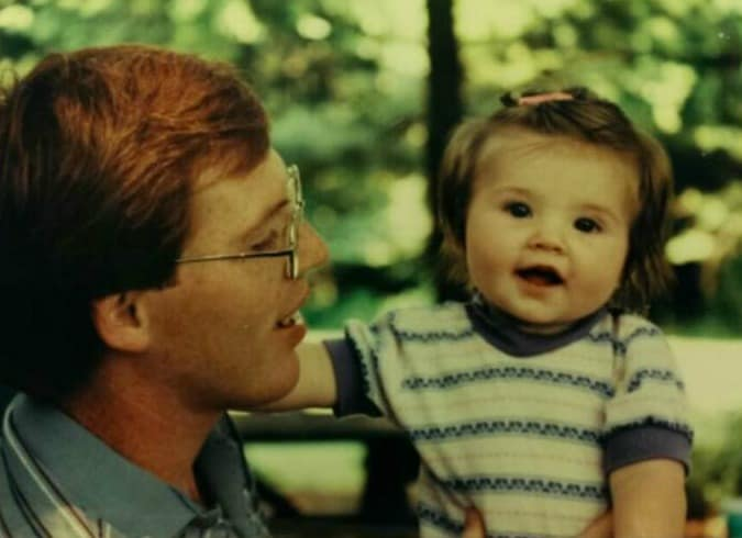 Melissa and Dad 1985