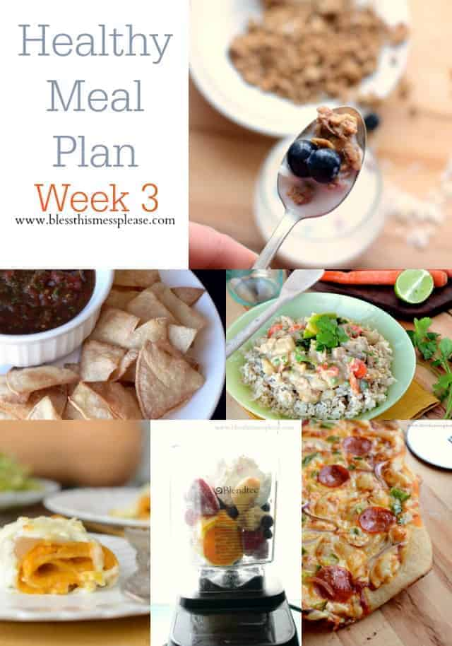 Healthy Meal Plan Week 3! Yumm and easy!