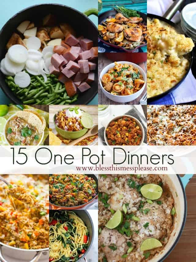 15 simple one pot dinner ideas bless this mess 15 simple one pot dinner ideas forumfinder Image collections
