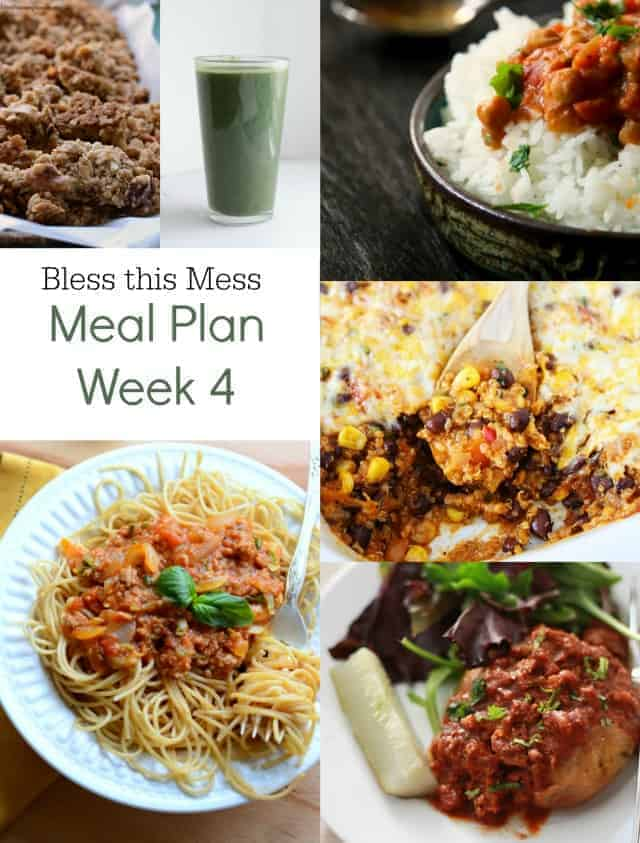 Bless this Mess Meal Plan {Week 4}