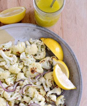 Roasted Cauliflower with Lemon Vinaigrette is quick, easy and delicious.