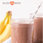chocolate peanut butter smoothie pin