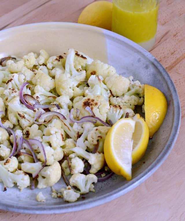 Roasted Cauliflower with Lemon Vinaigrette