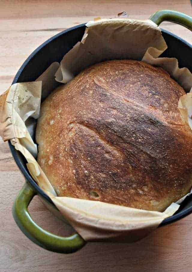 Super Simple No-Knead Bread using just 4 basic ingredients and some time which makes a super chewy crust with soft and fluffy middle.