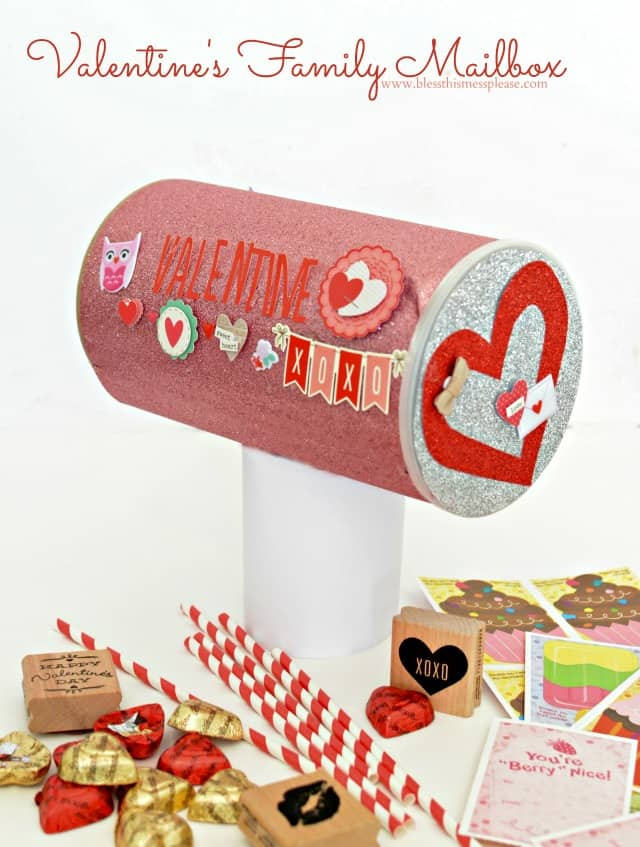 Valentine's Mailbox for the Whole Family fill it with love notes and little gifts for each other all month long!
